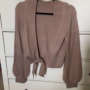 Abercrombie tie back sweater